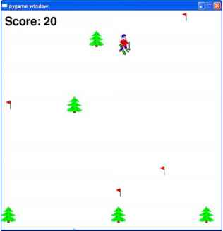 Pygame Skiers