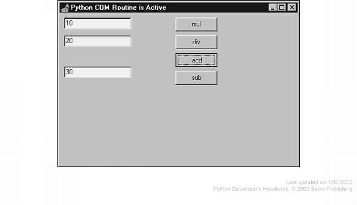 Implementing COM Objects in Python - Python Introduction